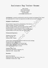 animal trainer resume s trainer lewesmr sample resume bp pot com assistance dog
