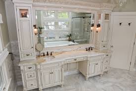 bathroom vanity mirror ideas modest classy: decoration  lovely colonial bath double sink and make up area image of on plans free  bathroom makeup vanity