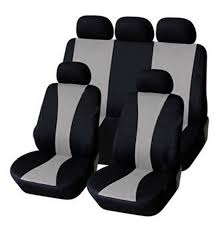 Universal Fit Grey Black Color Car Seat Cover Tire Print Style Car ...