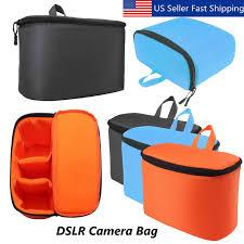 <b>Waterproof</b> DSLR SLR Camera Lens Bag <b>Padded</b> Inner Dividers ...