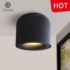 aisilan surface mounted led downlight cob spot light for living room bedroom kitchen bathroom corridor ac 90v 260v