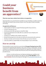 resources to support skills employment in gloucestershire could your business benefit from an apprentice