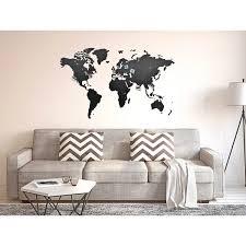 <b>Деревянная карта мира</b> на стену Wall Decoration Black