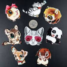 Detail Feedback Questions about PGY High Quality Embroidery Cat ...