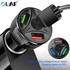 <b>OLAF</b> USB <b>Car Charger Quick</b> Charge 4.0 3.0 for iPhone Samsung ...