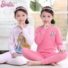 Barbie Girls <b>Three Layer Warm</b> Underwear Suit Cotton Children ...
