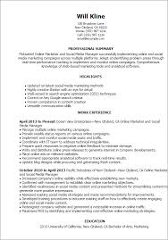 resume templates online marketer and social media key social media marketing resume sample