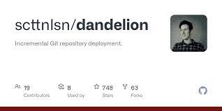 scttnlsn/dandelion: Incremental Git repository deployment. - GitHub
