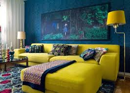 bold blue and yellow living room blue living room furniture ideas