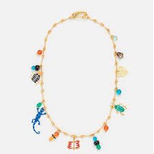 Long <b>glass animals</b> necklace