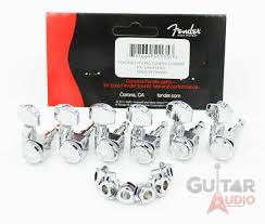 Genuine Fender CHROME <b>LOCKING 6</b>-<b>InLine</b> 2-pin Strat/Tele F ...