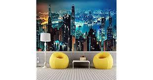 City Building Scenery <b>Custom 3D Photo Wallpaper</b> For Bedroom ...