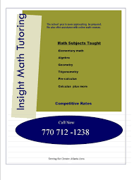 images math tutoring flyer template how to advertise to be a tutor being a