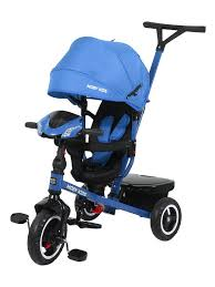23% <b>Moby Kids Велосипед</b> 3кол. Rider 360, 10x8 AIR Car, синий