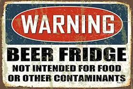 Предупреждение пиво холодильник холодильник магнит 2.5 х 3.5 ...