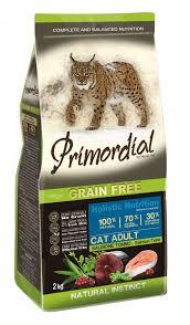 Купить <b>Сухой корм</b> для кошек <b>Primordial</b> беззерновой с лососем ...