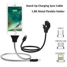 <b>Lazy</b> Stand Up <b>Charging Cable</b> Flexible <b>Holder Bracket</b> for micro ...