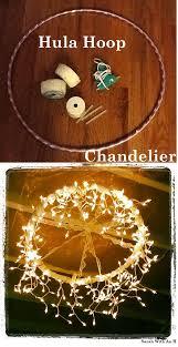 hula hoop chandelier cheap diy lighting