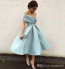 2019 <b>ELegant Light Sky Blue</b> Cocktail Dresses Off The Shoulder ...