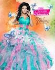 Quinceanera dresses pink and green