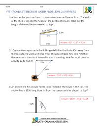 pythagoras theorem questions pythagoras theorem word problems 2 middot answers