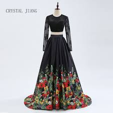 <b>CRYSTAL JIANG 2019</b> Two Pieces Black Long Sleeves Sexy Open ...