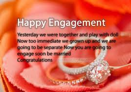 Engagement Wishes Sms For Sister From Brother