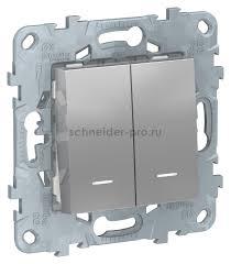 <b>Schneider</b> Unica New, алюминий, <b>NU521330N</b> купить по цене ...