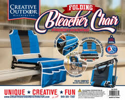 Creative Outdoor 2 in 1 Bleacher Folding Chair - Blue/Black ... - Kroger