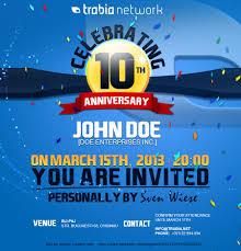 corporate party invitation design for th anniversary lancer 89 for corporate party invitation design for 10th anniversary by mjbenitez
