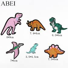 6pcs/lot <b>Embroidered dinosaur</b> Patches for boy clothes Iron On ...