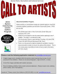 call for artists burien parks seeking d artists for  burien parks recreation and cultural services has put out a call for artists for 2 dimensional media for the 2016 schedule of gallery exhibitions at the