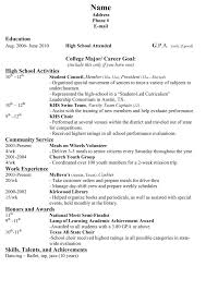 college application resume examples for high school seniors template college sample resume