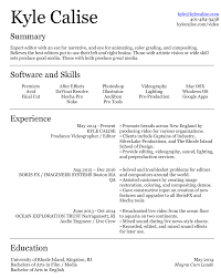 resumé kyle calise