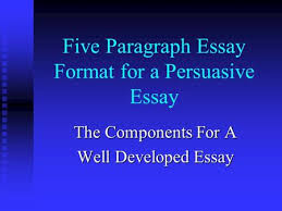 how to write a research paper day three how to write a research  five paragraph essay format for a persuasive essay the components for a well developed essay