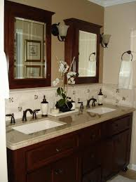 decoration bathroom sinks ideas: bathroom western themed bathroom decor then double sinks and faucets also granite vanity tops and shelves ideas with mirror doors with wooden vanity