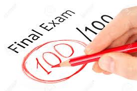 final exam marked isolated on white stock photo picture final exam marked 100 isolated on white stock photo 15347936