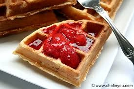 Image result for waffles and strawberries photos