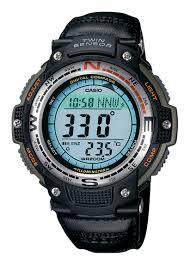 Casio <b>Men's</b> Digital Compass Twin <b>Sensor Sport Watch</b> Green ...