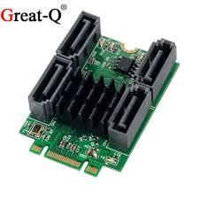 <b>Great Q</b> M.2(PCIe) B + M Key slot to 4 Port SATA 6G Adapter Marvell ...