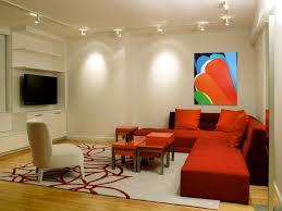 room light fixture interior design:  dp berliner red modern living room sxjpgrendhgtvcom