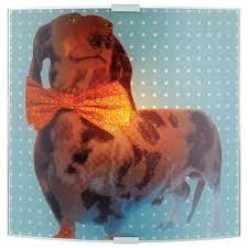 <b>105244</b> Детский настенный <b>светильник</b> с собакой разноцветный ...