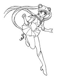 Small Picture Sailor Moon Coloring Pages Printable Four Sailors Coloring Pages