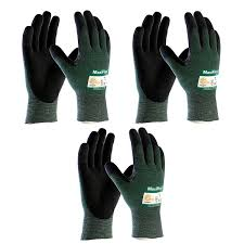 com cut resistant gloves tools home improvement 3 pack maxiflex cut 34 8743 cut resistant nitrile coated work gloves green knit shell and premium nitrile coated micro foam grip on