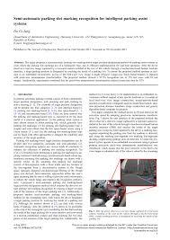 (PDF) Semi-<b>automatic parking</b> slot marking recognition for <b>intelligent</b> ...