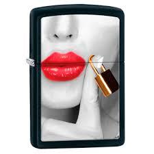 <b>Зажигалка Zippo</b> 29089 <b>Red Lips</b> Black Matte|Zippo-zippo.ru ...