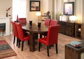 Red Dining Room Sets Indoor Plant Red And Gold Dining Room Wooden Laminate Headboard