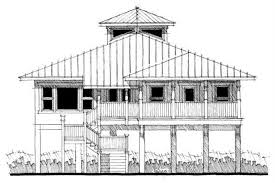 Beachfront House Plans   Coastal Home Design SeaGrass     middot  This is the front elevation of these Florida Coastal House Plans