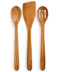 kitchen utensil: martha stewart collection set of  acacia kitchen utensils only at macys