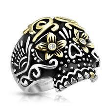 <b>sugar</b> skull ring products for sale | eBay